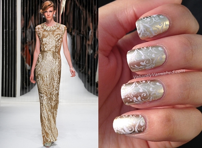 10 Days Of Couture Nail Art Challenge Day 9 Inspired By Jenny