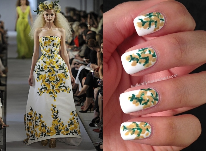 Day 2 Of Couture Nail Art Challenge Oscar De La Renta Valiantly