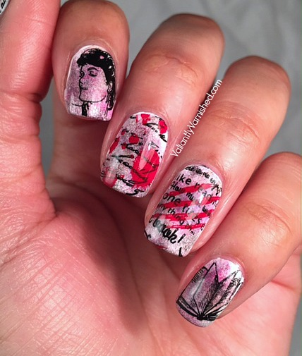 Pride & Prejudice & Zombies inspired Nail Art w/Moyra Stamping Plates —  Valiantly Varnished - Pride & Prejudice & Zombies Inspired Nail Art W/Moyra Stamping