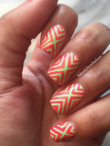 3 Summer Neon Nail Art Designs With Whats Up Nails Vinyls And China