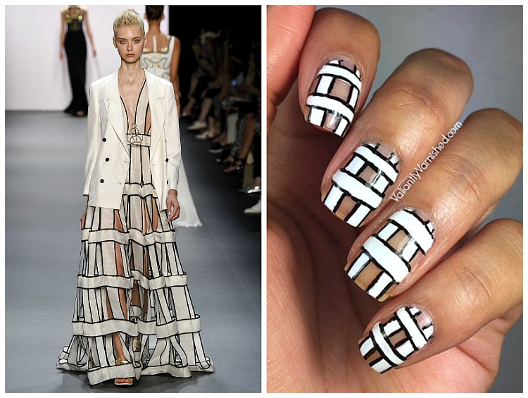 Inspired by Fashion - Jenny Packham Spring 2017 Nail Art — Valiantly ...