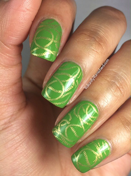 St Patricks Day Green And Gold Nail Art Valiantly Varnished