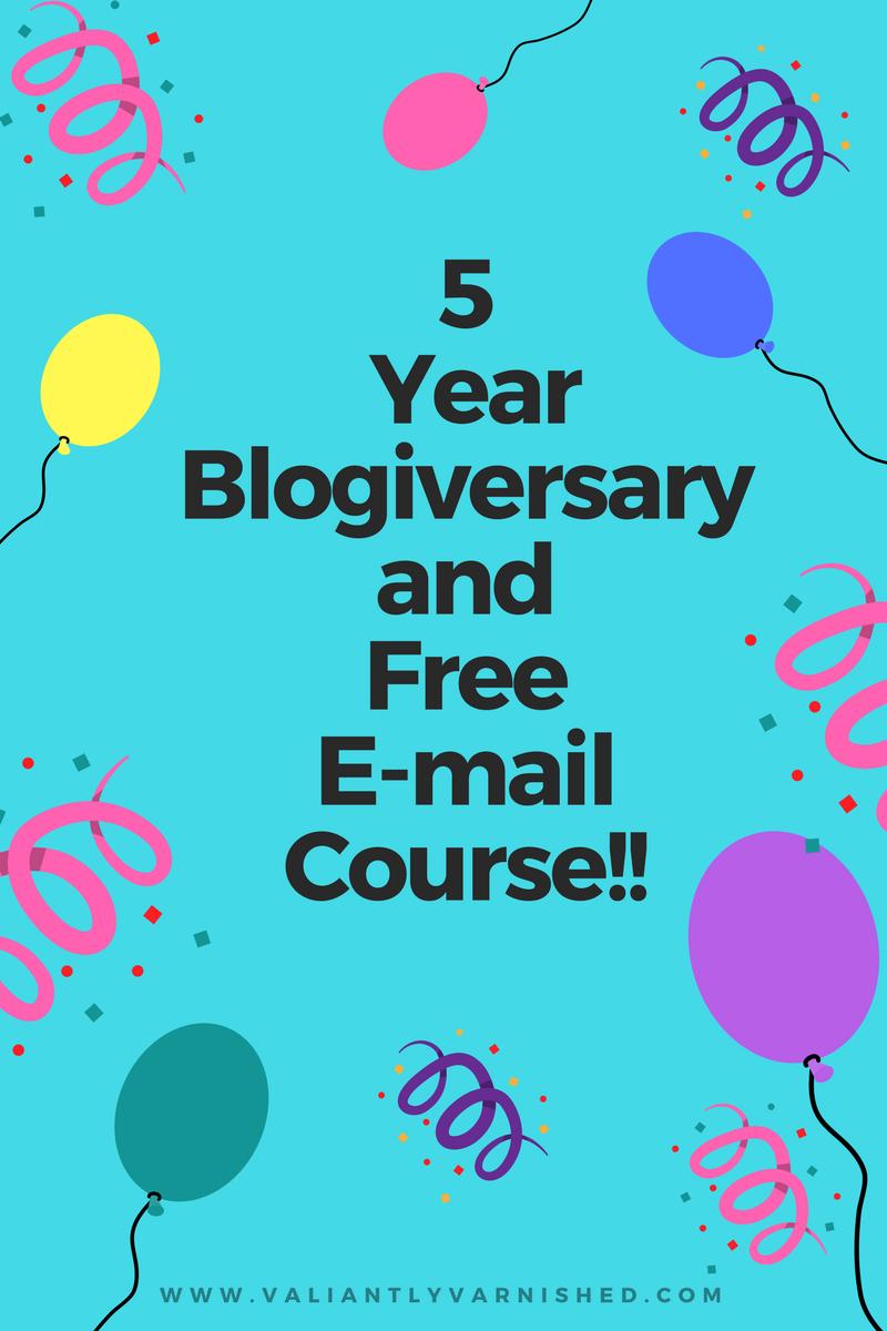 5 Year Blogiversary And New Free Nail Art E Course Valiantly