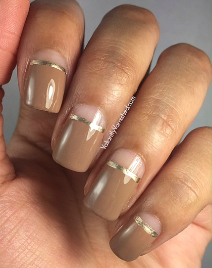 Quick and easy nail art negative space neutral nail art immediately after finishing that design i wanted to try it with a more neutral color i liked the idea of the subtle colors with the unusual design and prinsesfo Image collections