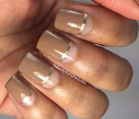 Quick And Easy Nail Art Negative Space Neutral Nail Art Valiantly