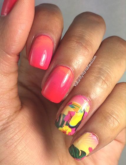Quick And Easy Summer Nail Art Summer Gradient Wtropical Nail