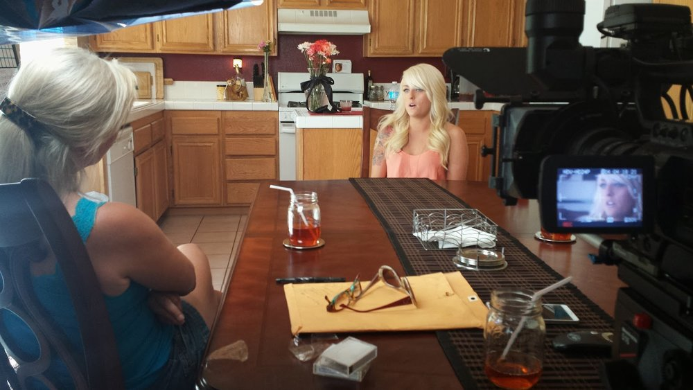 Dr. Diane Tober interviewing an egg donor for her documentary (2014)