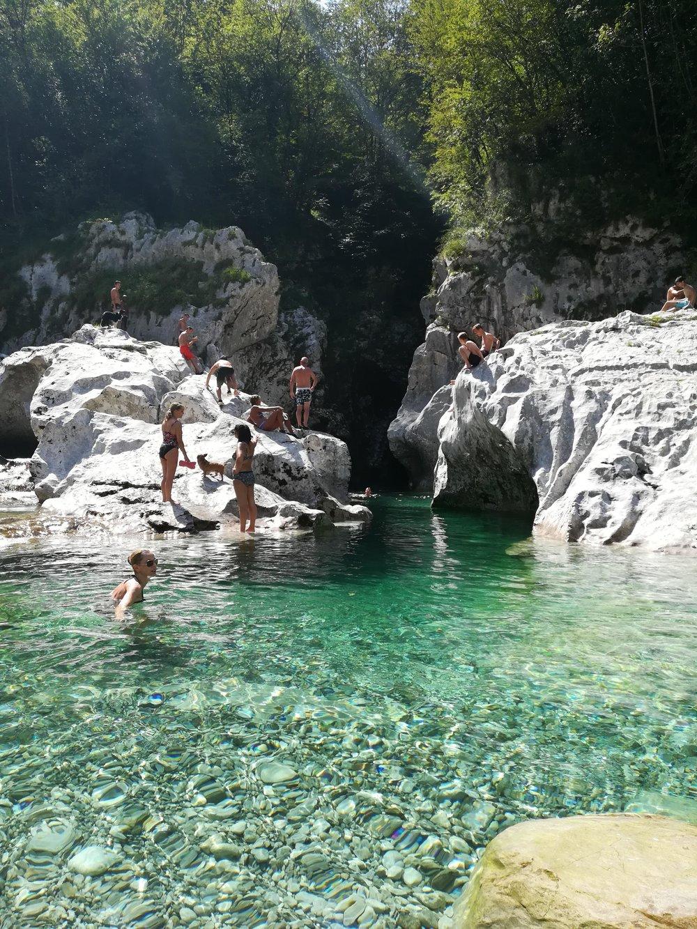 ....e dopo un tuffo nelle acque trasparenti dell'Arzino....
