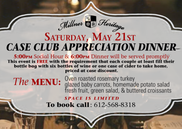 PLEASE CLICK THIS BANNER FOR DINNER DETAILS!