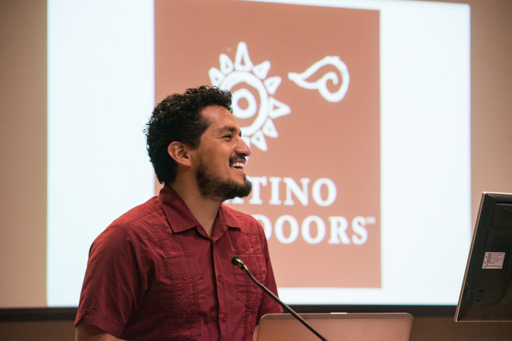 José smiles while explaining his vision for Latino Outdoors.