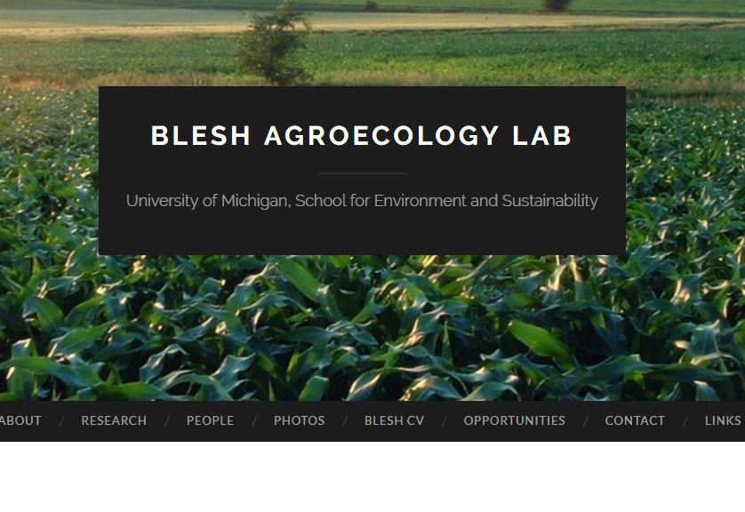 2017 Scholars Ami Fofana and Sydney Fuller make it to the front page Dr. Blesh's agroecology lab. Click here to read more!
