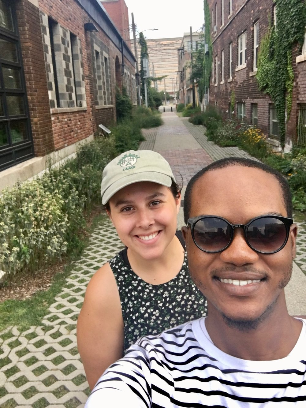 Ryan and I touring Detroit's Green Alley, July 27th, 2017