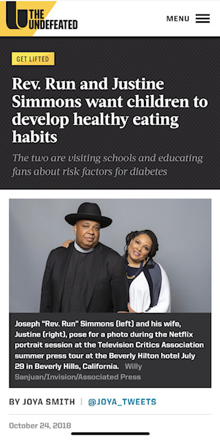 It took the fourth- and fifth-graders of P.S. 104 The Bays Water School in Queens, New York, 15 minutes to calm down after rap legend Joseph Simmons, known as Rev. Run, and his wife, reality television star Justine Simmons, entered the school's bright auditorium Oct. 12.