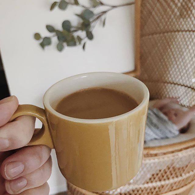 "Keep me sane, precious caffeine 😅 pretty sure Addie is in the background saying ""yay, coffee!"""