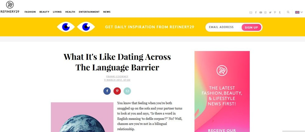 Dating language barrier