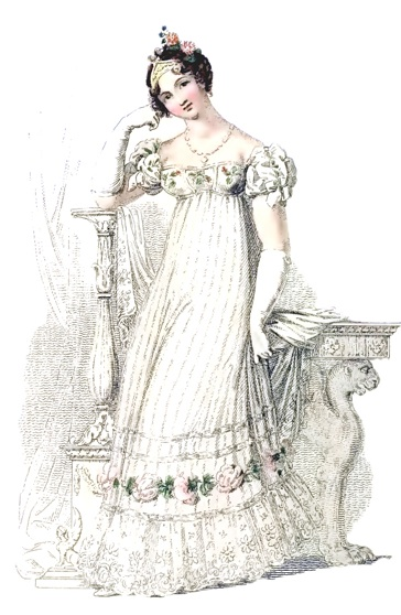 June 1816 Bridal Gown, Ackermann's
