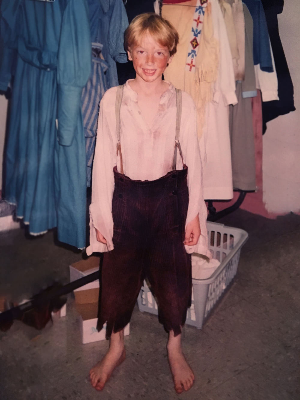 RDCE as an urchin boy in Annie Get Your Gun
