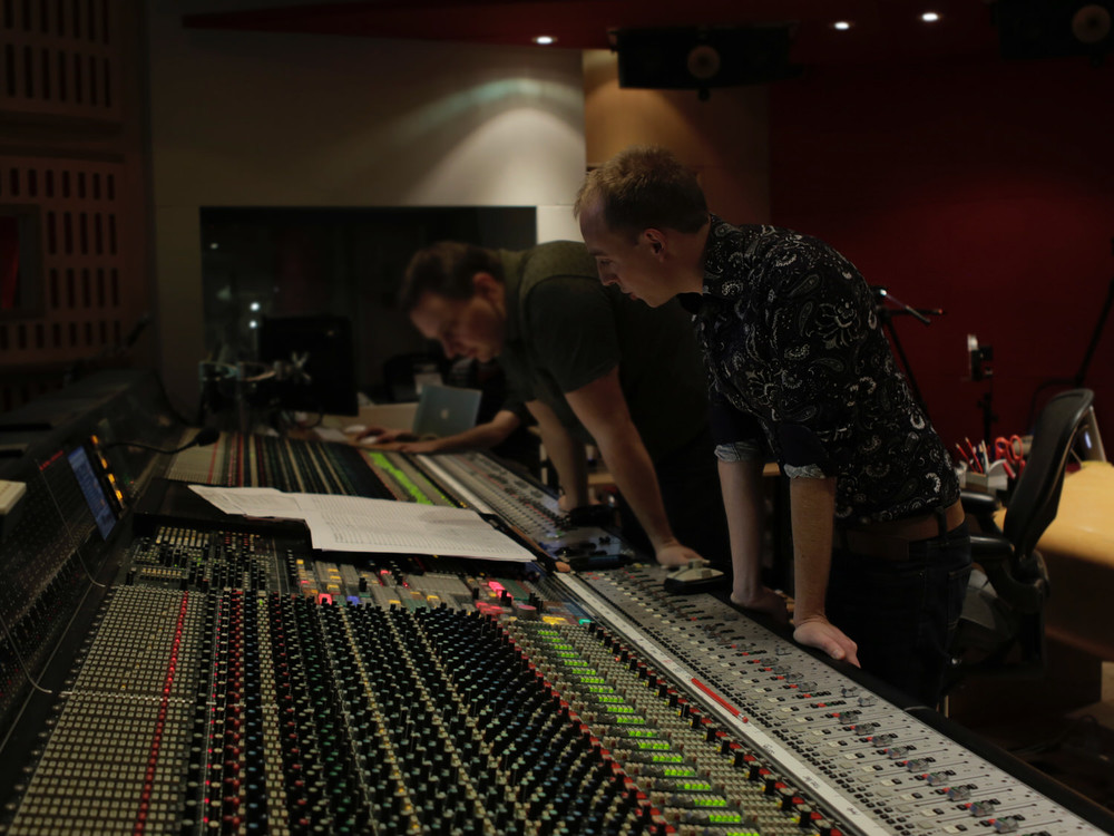 At Abbey Road mixing the Prague Philharmonic Orchestra