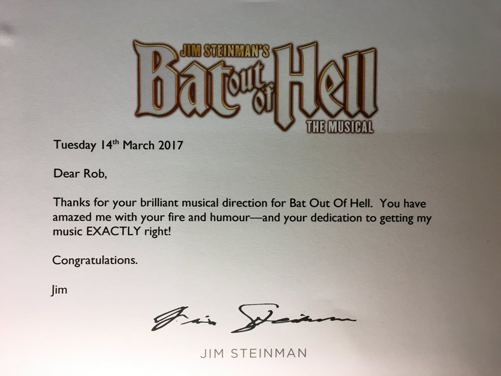 Bat out of hell Robert Emery