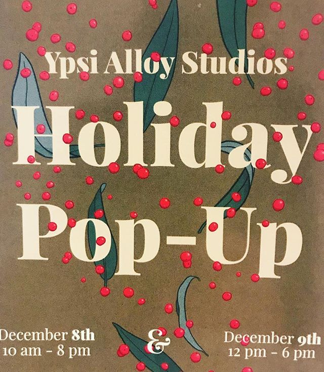 #Repost @magalita_m with @get_repost ・・・ @ypsialloystudios Holiday Pop Up at the @a2artcenter be there or be ◼️ #holidaypopup #holidayartmarket #ypsialloy #ypsialloyholidaymarket #supportyourlocalartists #supportyourfriends #supportart #happyholidays