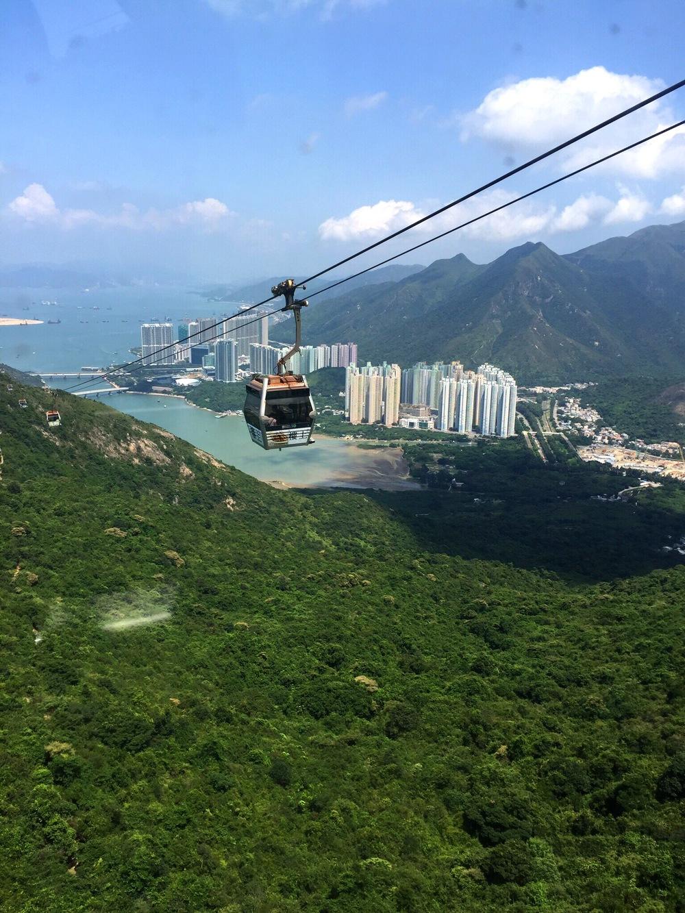 """Cable car to """"The Big Buddha"""" Ngong Ping, Lantau Island, in Hong Kong -  Labor Day week 2016"""