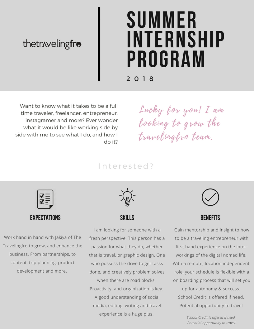 Summer Intern Program Travelingfro join the team.jpg