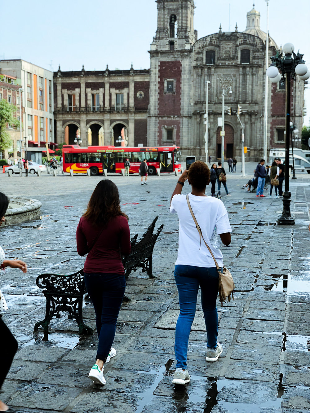 Walking around and meeting new people in Mexico City