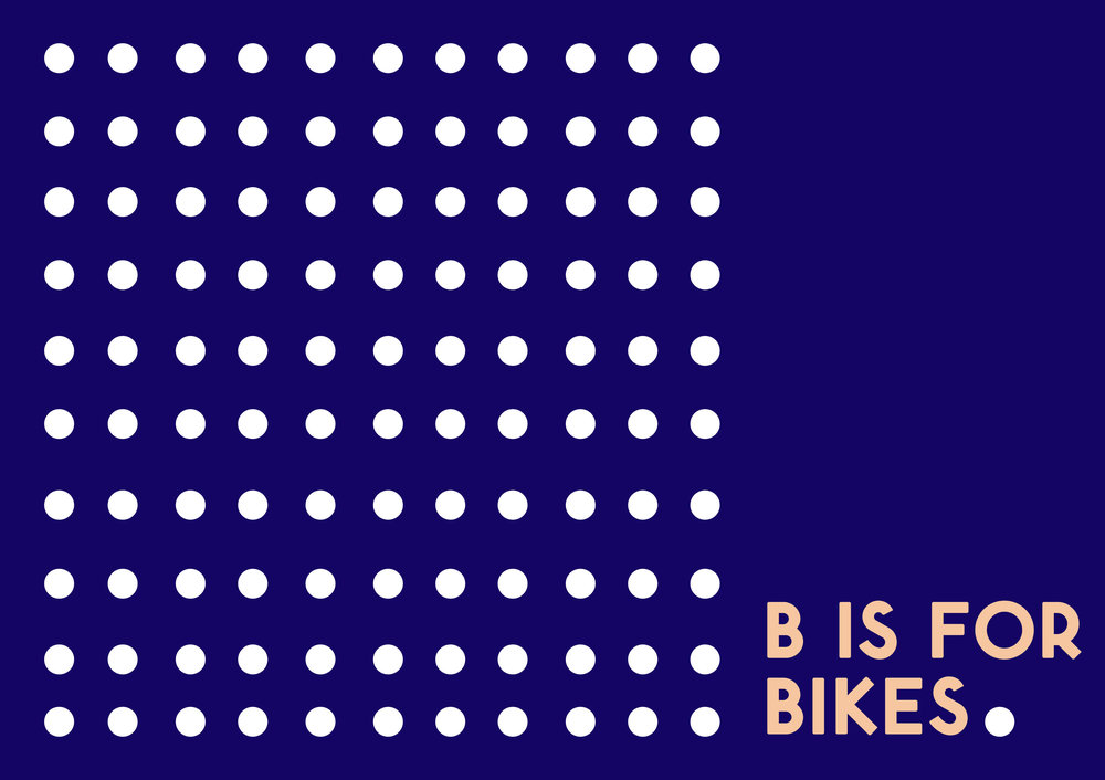 """""""B is for BIKES!"""" a public performance piece happening at Benson First Friday, October 7th, 6:00"""