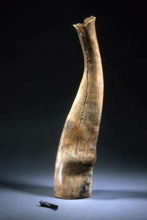"Una Furtiva Lagrima ,  1998    clay, kiln- and pit-fired    24"" h."