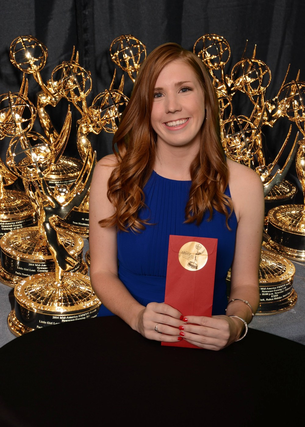 Senior Cailey Taylor at the National Academy of Television Arts and Sciences' Emmy gala.