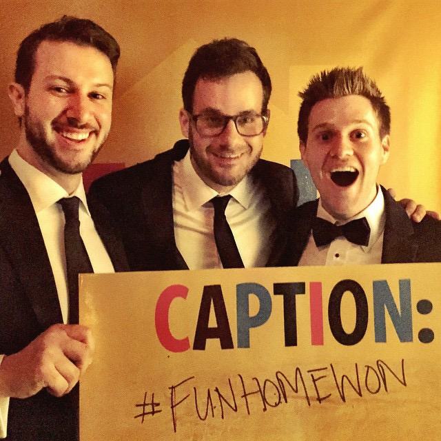 Nathan Vernon (center) at the Tony Awards.