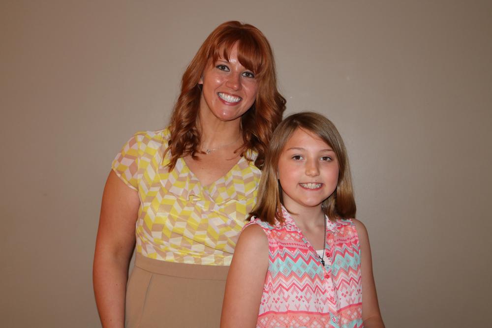 Rebecca Rumptz and her daughter, Kadence.