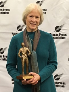 Ann Gardner  (j'75) received the Clyde M. Reed Jr. Master Editor Award from the Kansas Press Association this year. The award recognizes a Kansas editor for a lifetime of achievement that involves commitment to community, the Kansas newspaper industry and the state. Gardner is a former Lawrence Journal-World editorial page editor who lives in Lawrence.