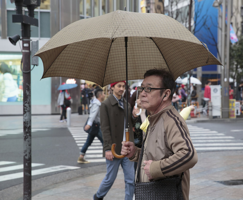 Beige umbrella