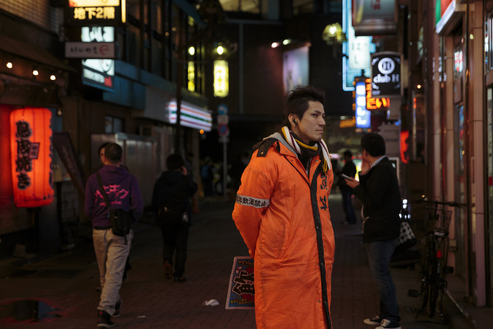 man in orange