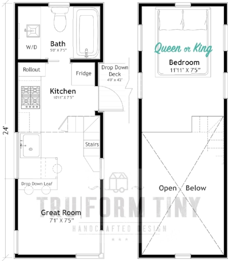 Example Floorplan:  24' KOOTENAY