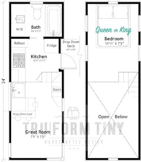 Example Floorplan:  24' KOOTENAY