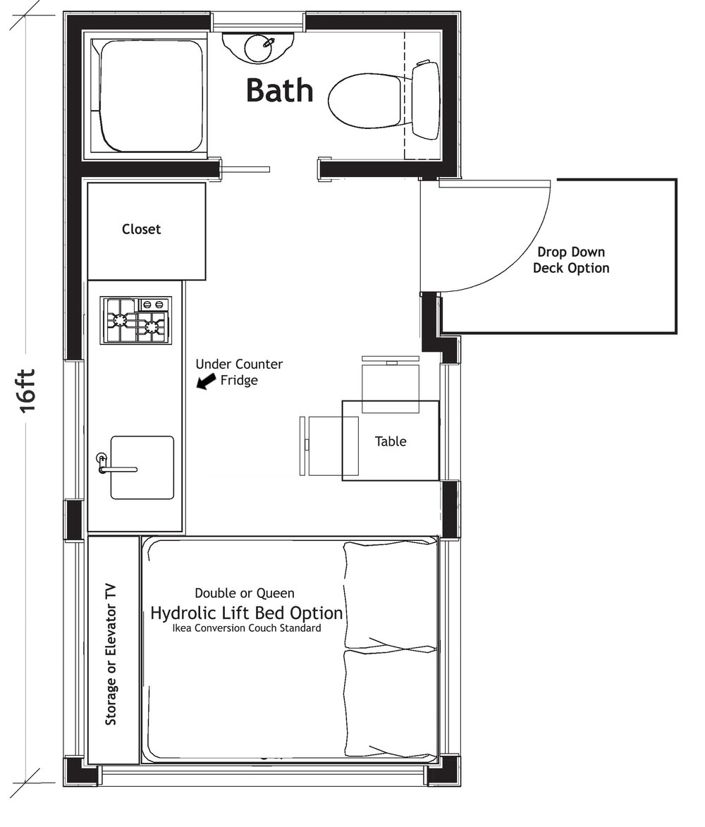 Verve 16 ft Floor Plan   Starts at $39,900