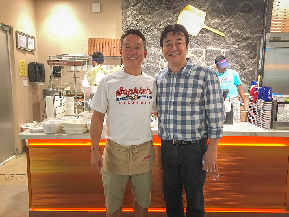 "Sophie's Founder and Owner, John, with Celebrity Chef and host of the Korean TV show ""Street Food Fighter"" Chef Baek Jong Won."