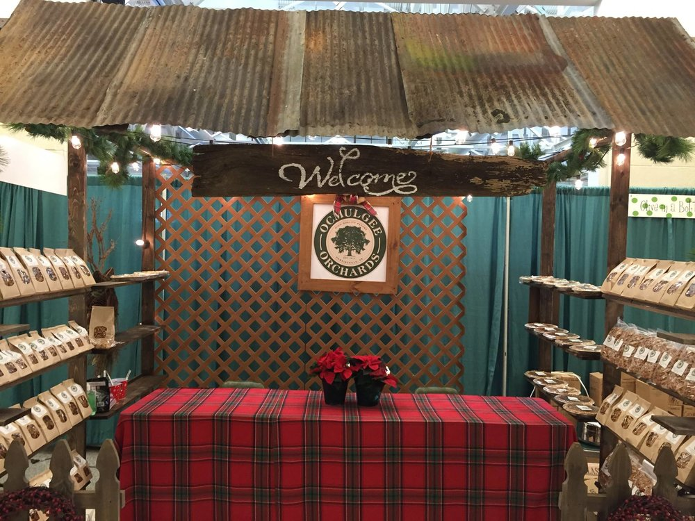 Come see us and our little barn-booth, stocked with fresh and Sugar Fried pecans!