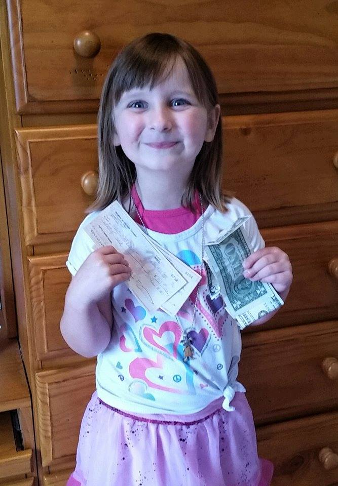 Rachel collected money for the Haiti 323 Project at her 5th birthday party!