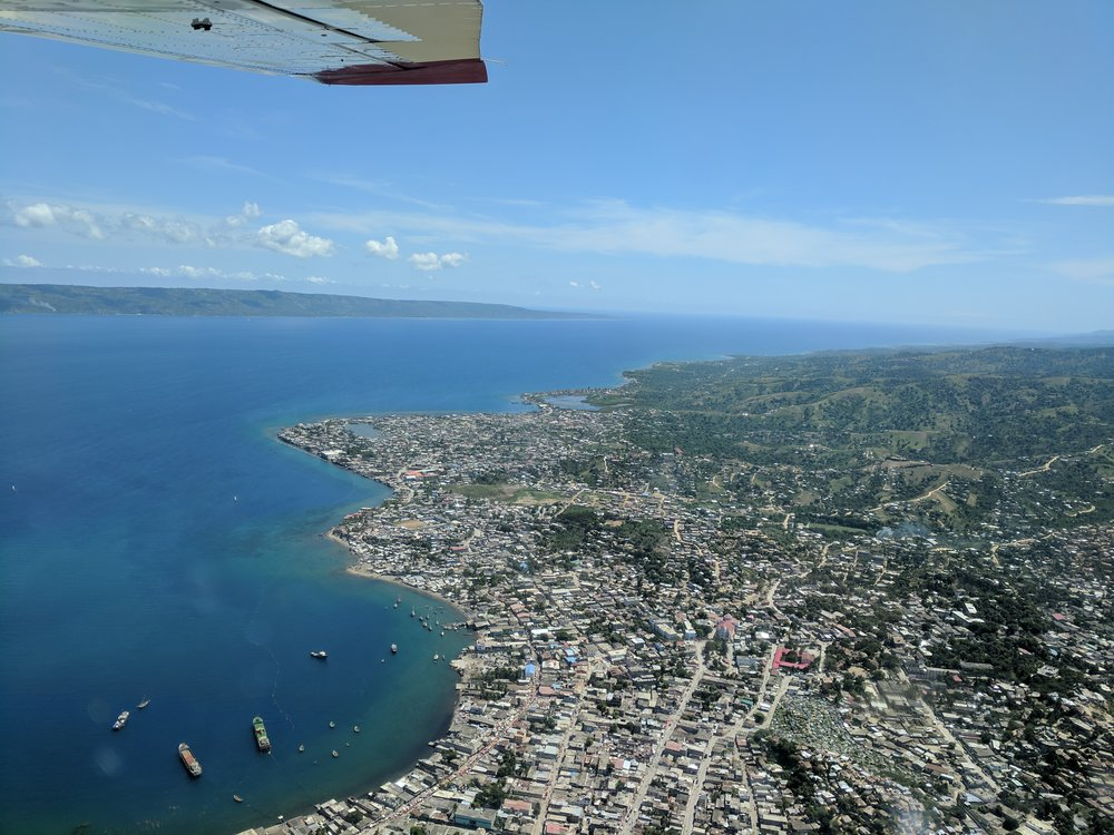 View from the small plane of Port-de-Paix, Haiti.