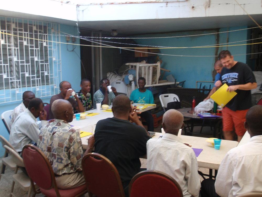 Men's Bible seminar.