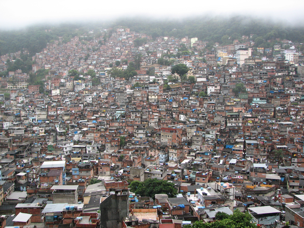 A Favela, or Slum, in Sao Paolo, Brazil