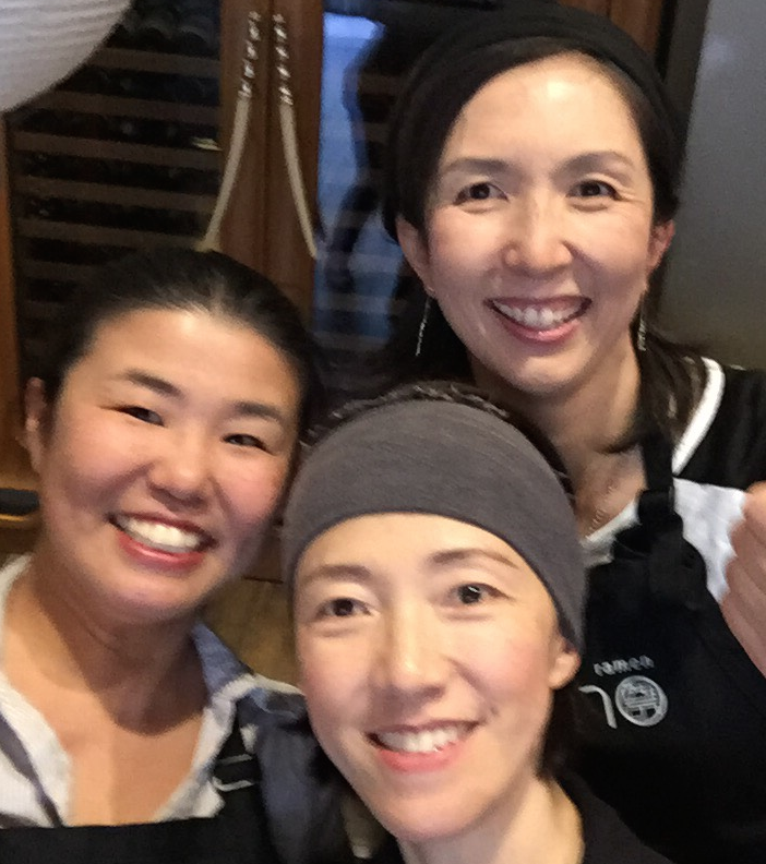 Chika, Tomoko and Chikako. We just wanted to create a good bowl of ramen for our children.