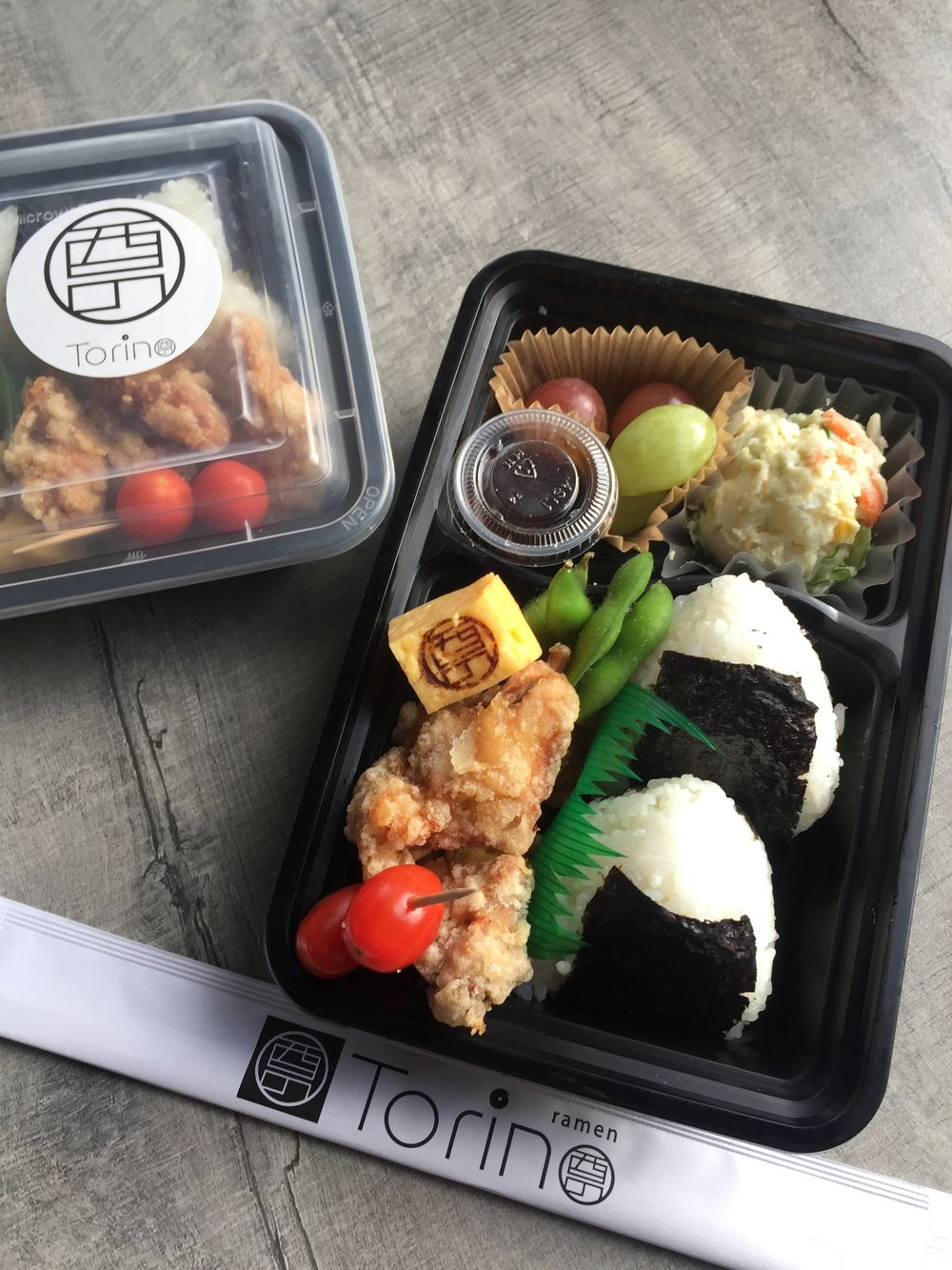 Salmon Rice Ball Bento   Starting at $9