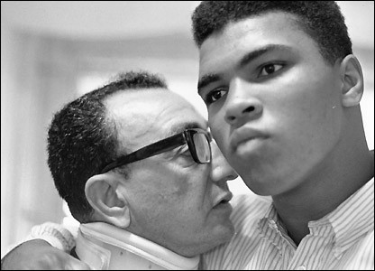 Ali with career trainer and beloved friend Angelo Dundee
