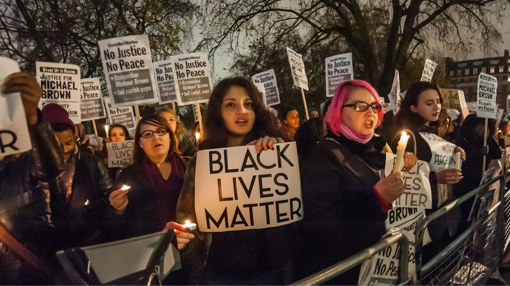 Black Lives Matter protesters in 2016