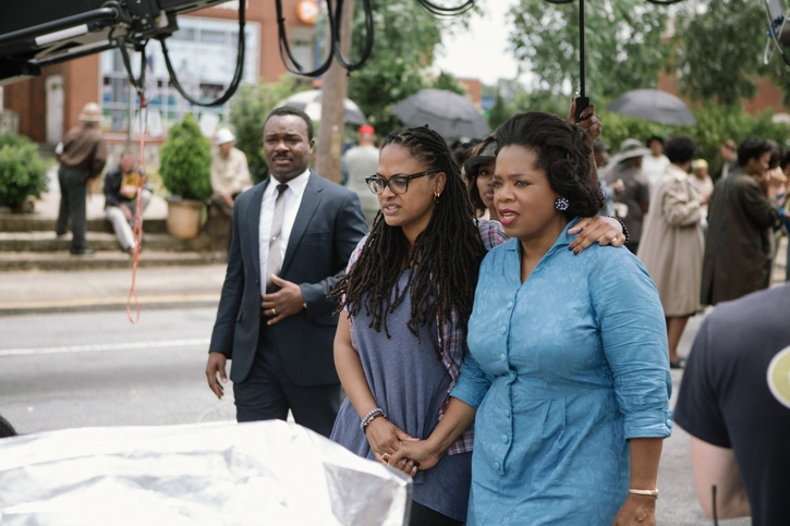 Director Ava Duvernay and actress Oprah Winfrey rehearsing during the filming of 'Selma'.
