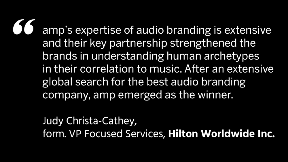 credential / amp sound branding / audio branding / Hilton Worldwide Inc.